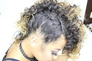Penteado simples