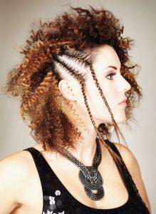 penteado com trança no cabelo