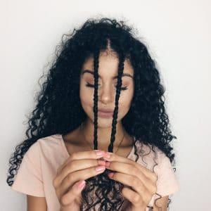 tranças em cabelo cacheado
