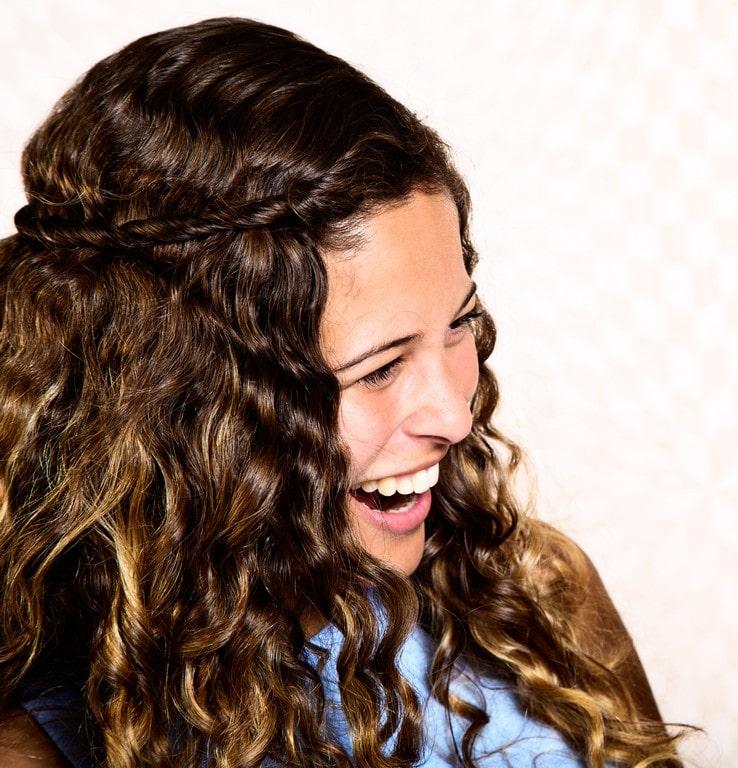 penteado para cabelo cacheado 50
