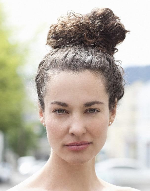 penteado para cabelo cacheado 58