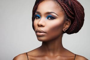 Mulher negra com tranças box braids